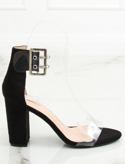 def98bc6e Dámske čierne transparentné sandále na hrubom opätku - Na objednávku (do 7  dní) empty